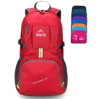 Venture Pal Lightweight Durable Hiking Camping Foldable backpack(Red)