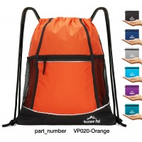 Venture Pal Packable Sport Gym Drawstring Sackpack Backpack Bag with Wet Pocket for Men,Women(Orange)