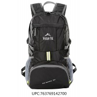 Venture Pal Lightweight Durable Hiking Camping Travel backpack(Black)